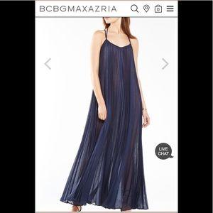 BCBG MAXAZIA pleaded maxi dress